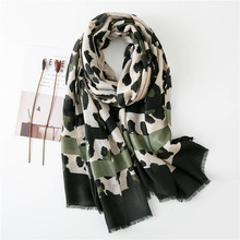 Kobiety moda Sexy Leopard Dot frędzle wiskoza szalik jesień zima okłady i chusty Pashmina Foulards ukradł muzułmański hidżab