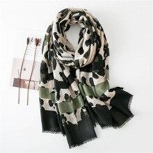 Moda feminina sexy leopardo dot franjas viscose xale cachecol outono inverno envoltórios e lenços pashmina foulards roubou muçulmano hijab