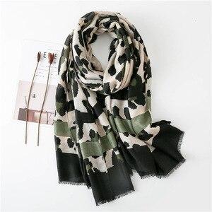 Image 1 - Women Fashion Sexy Leopard Dot Fringes Viscose Shawl Scarf Autumn Winter Wraps and Scarves Pashmina Foulards Stole Muslim Hijab