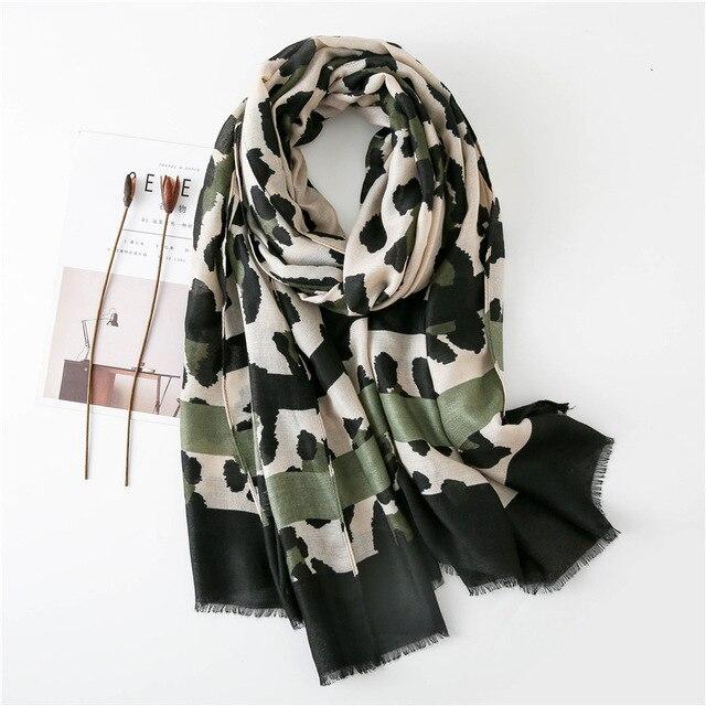 Women Fashion Sexy Leopard Dot Fringes Viscose Shawl Scarf Autumn Winter Wraps and Scarves Pashmina Foulards Stole Muslim Hijab