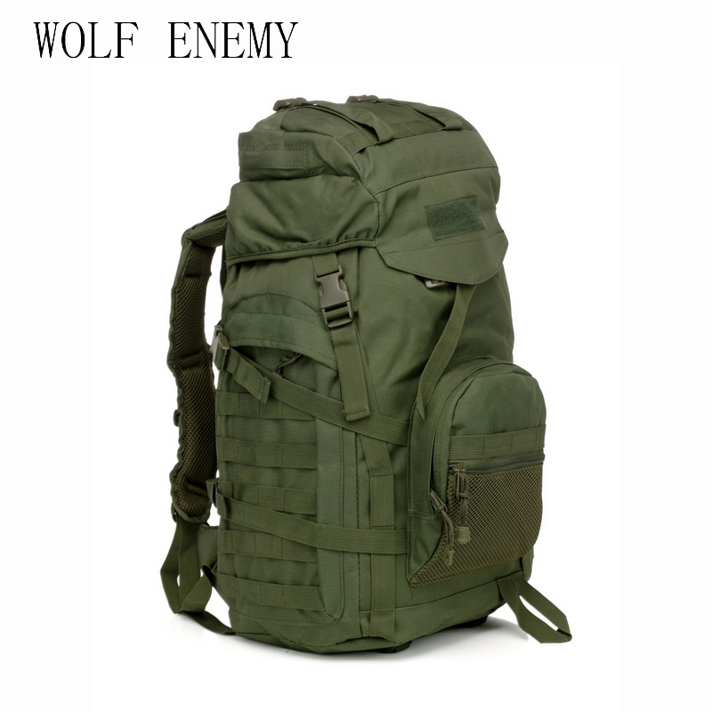 Molle 60L Camping Rucksack Tactical Military Backpack Large Waterproof Backpacks Camouflage Hiking Outdoor Shoulder Bag