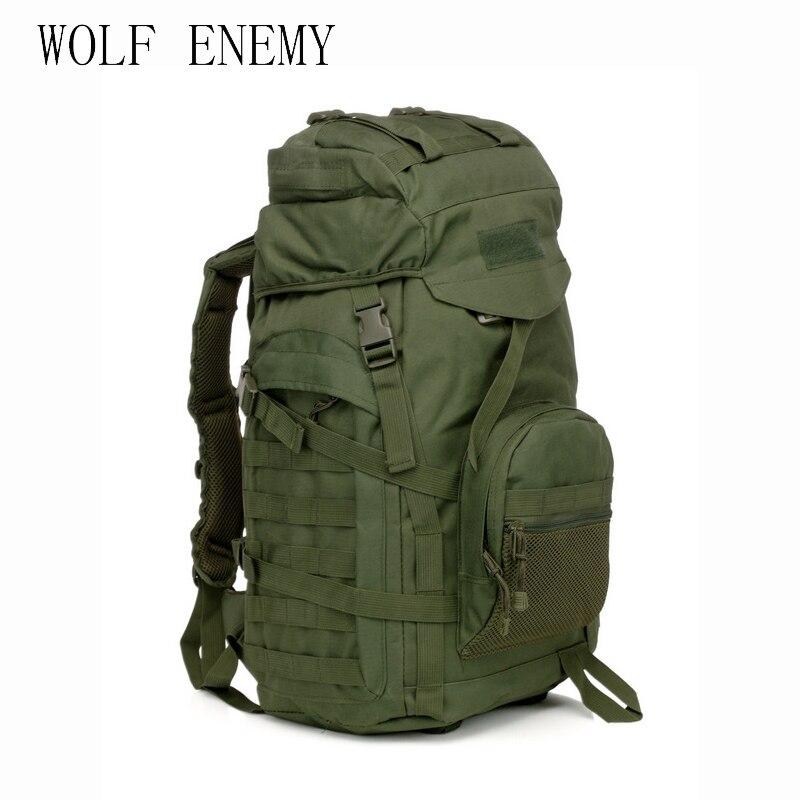 Molle 60L Camping sac à dos tactique militaire sac à dos grand étanche sacs à dos Camouflage randonnée en plein air sac à bandoulière