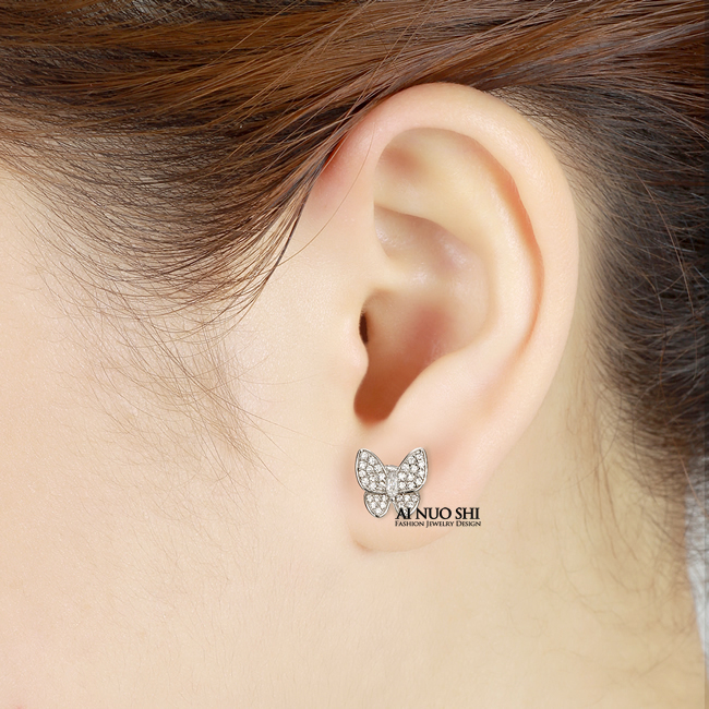 Beautiful Erfly Earrings Most Brilliant Thing In World Platinum White Gold Sona Stone Gift To Women Stud From Jewelry