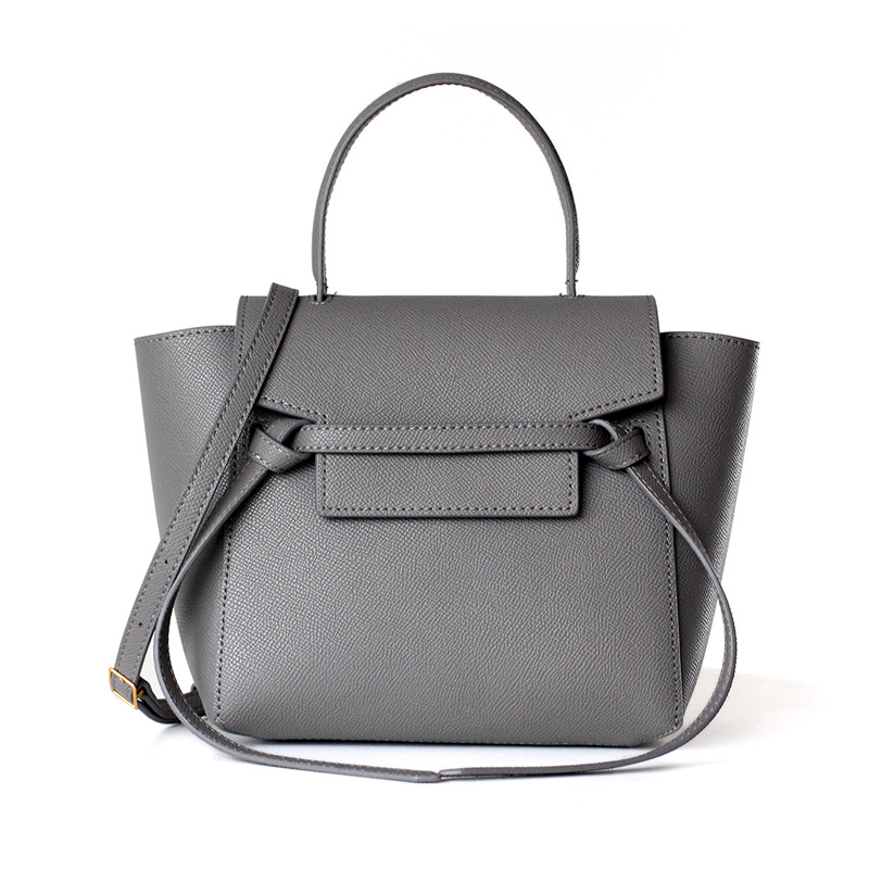 2019 Fashion Genuine Leather Luxury Handbags Women Bags Designer Cowhide Ladies Trapeze Bag Women Shoulder Messenger Bags Gray