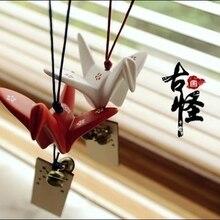 Керамический бумажный журавль колокольчики, карточки желаний, орнаменты, ветроловка, Стеклянные Колокольчики, ветряные колокольчики