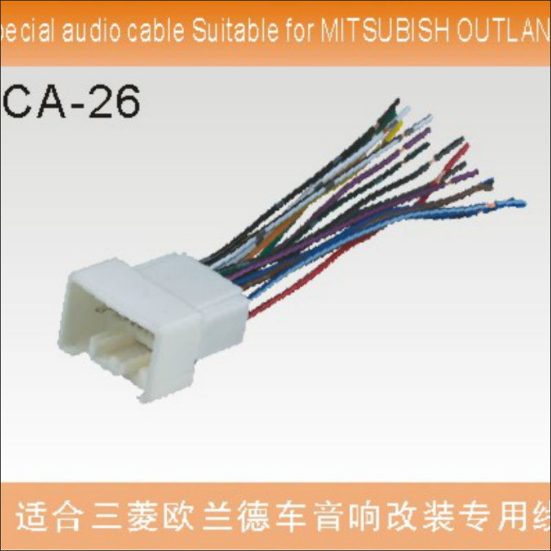 wiring & wiring harnesses mitsubishi 14 pin wiring harness connector  adapter for factory radio receivers