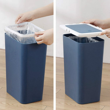 Can Be Connected To Wet And Dry Classification Trash Can Garbage Bin Home Living Room Bathroom With Lid Large Trash Can Mx718162