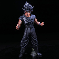 27CM Dragon Ball Chocolate Color Son Goku Toy PVC Anime Figure Super Saiyan Model Figures Doll Decoration Kids Gift Z46