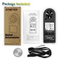 Mini anemômetro 816b com escala de velocidade do vento 0.3 -30 m/s e medição de temperatura do vento