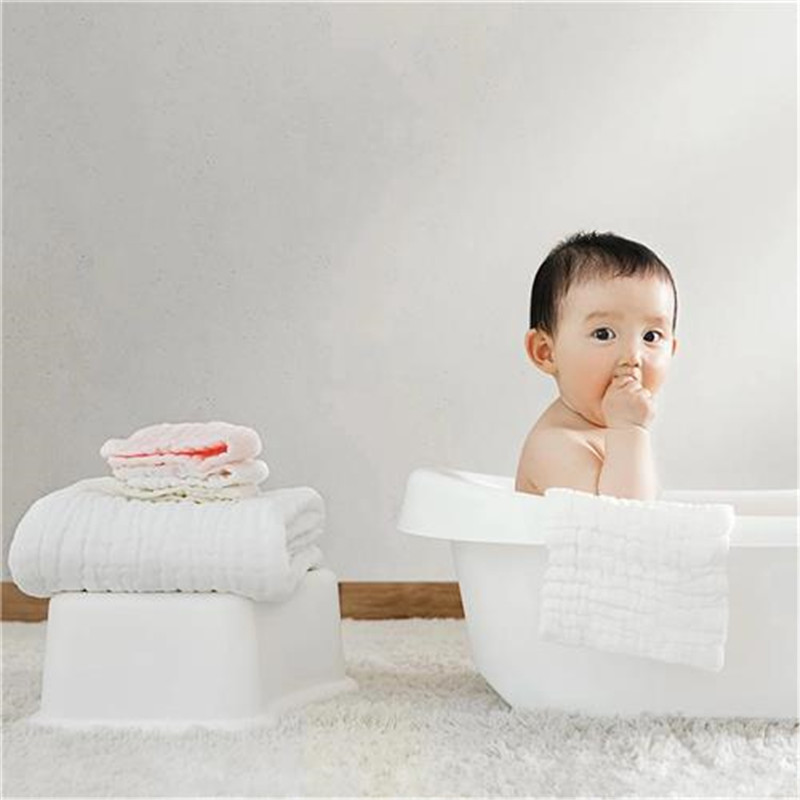 White 100% Cotton Bath Towel Jacquard Sheared Striped Face Soft Yarn Dyed Absorbent Beach Towels High Quality For Kids Adults