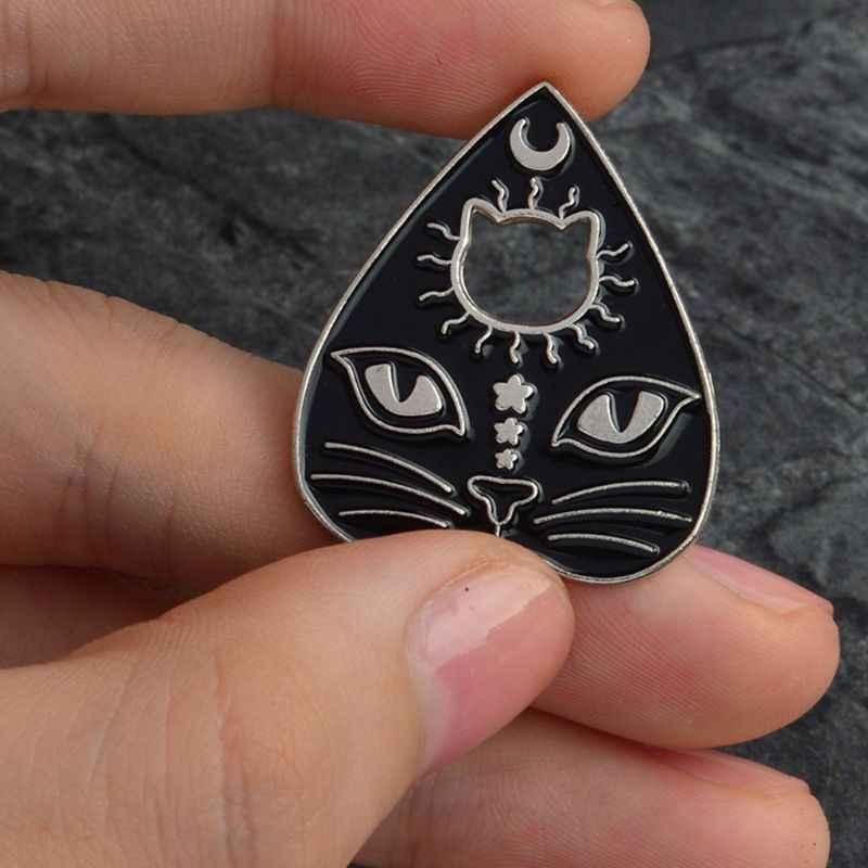 Кошка брошь коготь голова Резные эмаль милый котенок мастер творческий декоративные шпильки Jewelry костюмы рюкзак с нашивками Подарки для женщин мужчин S
