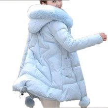 Winter Jacket Women 2016 new Faux Fur Collar Hooded Down Parka Female Thicken Warm Outwear plus size Jackets And Coats AE1555