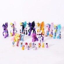 ПВХ фигурки лошади дружба Волшебная принцесса Луна Селестия Радуга тире единорог игрушки куклы для девочек детские игрушки