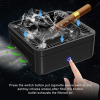 Ashtray Portable USB Rechargeable Smokeless Ashtray Secondhand Smoke Air Filter Purifier Home Office Car Ashtray Holder