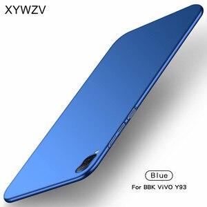 Image 2 - ViVO Y93 przypadku Silm, odporna na wstrząsy pokrywa luksusowe Ultra cienka, gładka, twardy telefon etui na Vivo Y93 tylna pokrywa dla ViVO Y 93 Fundas