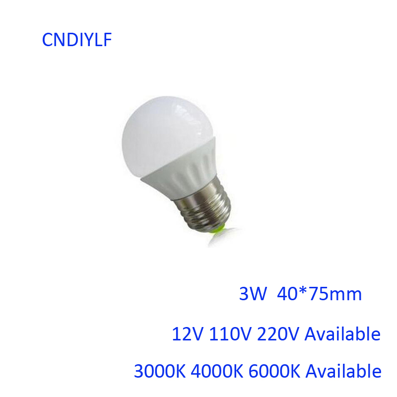 Ceramic 3W E27  LED Bulb 12V And 7W 12 Volt DC LED Bulbs 2PCS/Lot 100% With Air Mail Tracking Number 5 1w led bulb with ceramic housing