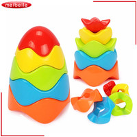 Kids Toys 2016 New Arrival Children Educational Toys Smart Egg Rainbow Tower Stacked Layers Set With