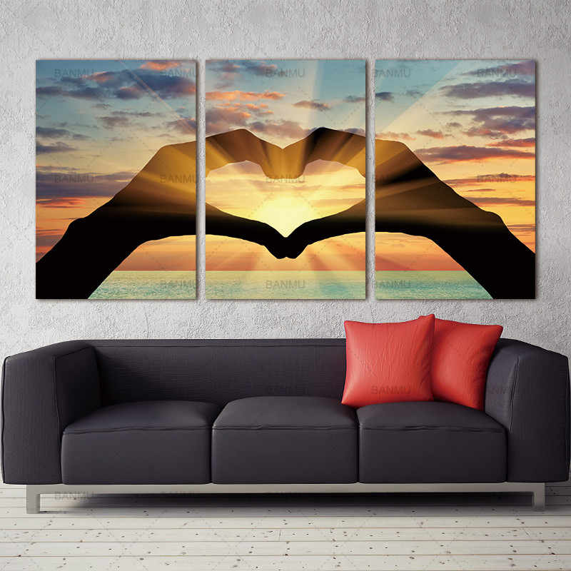 Canvas painting wall art  picture print Ocean Hearts Modular pictures painting on the wall paintings oil painting