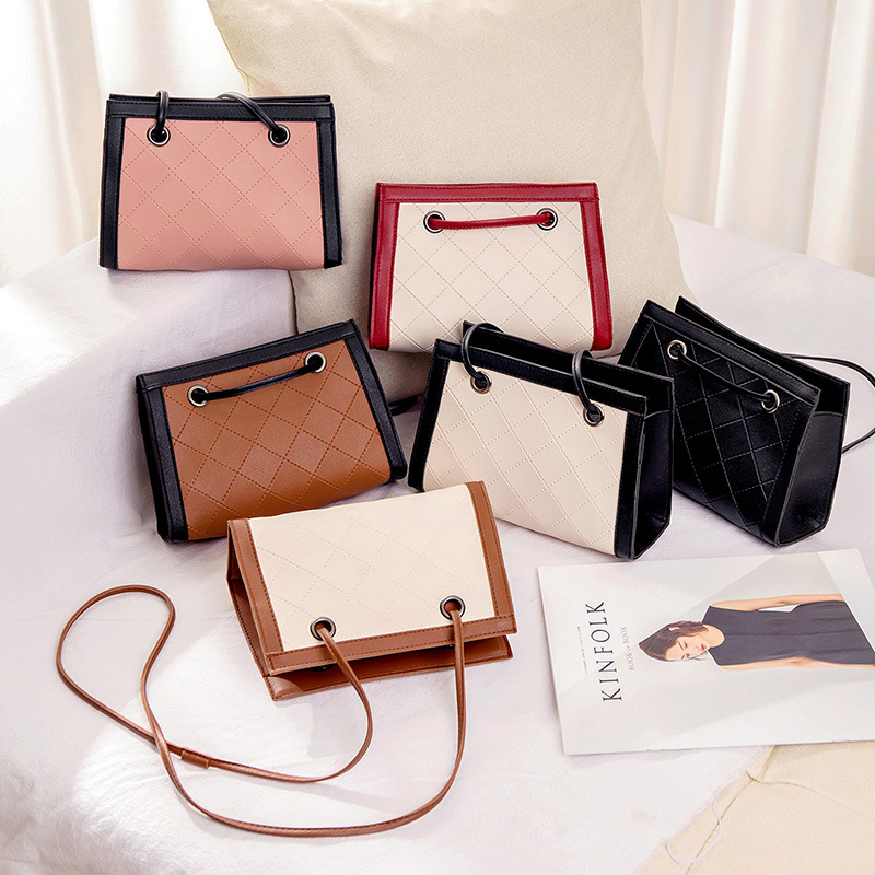Handbags Messenger-Bag Embossed Mobile-Phone Small Crossbody Lingge Female Fashion Women
