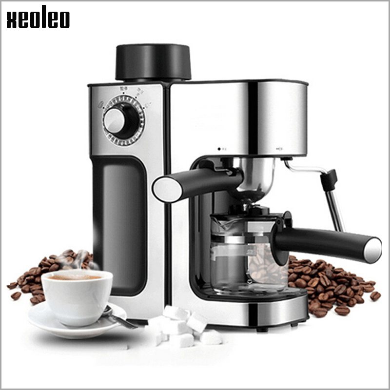 Xeoleo Coffee maker Espresso Hoursehold Coffee machine 5Bar Espresso machine 220V/800W Pump Pressure Automatic Coffee maker tprhm c2030 high quality color copier toner powder for ricoh mp c2030 c2050 c2530 c2550 mpc2550 mpc2530 1kg bag free fedex
