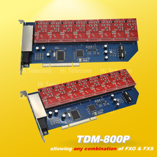 Free drivers TDM800P 8 Ports 8 FXO asterisk card for voip ippbx ip pbx elastix trixbox call center
