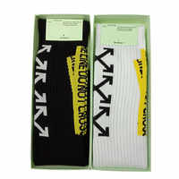 Great value! Off-white street hip hop men and women towel bottom sports tube socks off letter  AH