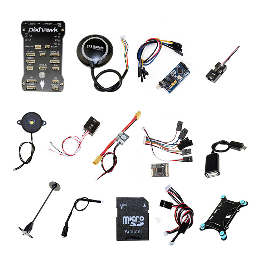 Pixhawk PX4 Flight Controller w 4G SD Safety Switch Buzzer M8N GPS PPM I2C shock Absorber