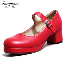 Drop Shipping Thick High Heels Ankle Strap High Heels Summer Shoes For Women Sexy Casual Platform Pumps Hot Sale