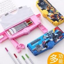 Multi funzione di cassa di matita di grande capacità cassa di matita del fumetto sveglio creativo per bambini single sided cassa di matita