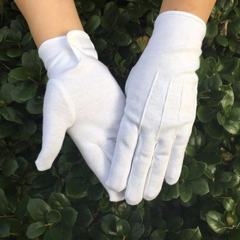 Hot sell Good Quality 100% Cotton White Masonic Gloves цена 2017
