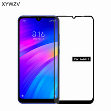2PCS Full Glue Cover Glass For Xiaomi Redmi 7 Tempered Screen F Film