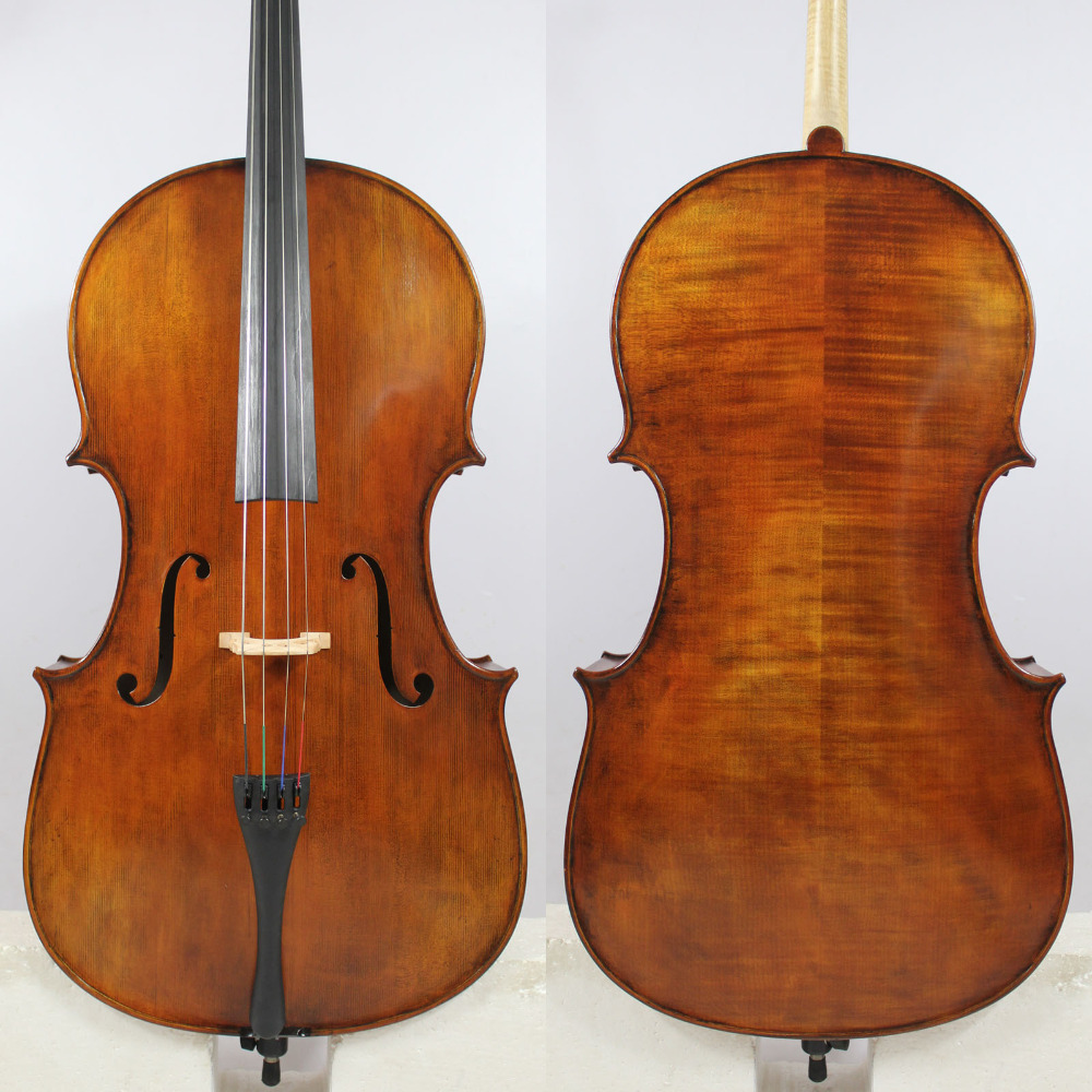 Special Offer Copy Guadagnini 4/4 Cello Old spruce M281 Flame maple EMS Free Shipping
