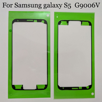 2pcs Original new For Samsung GALAXY S 5 G9006V Glue Adhesive For Samsung S5 Front LCD Display Frame Bezel Sticker image