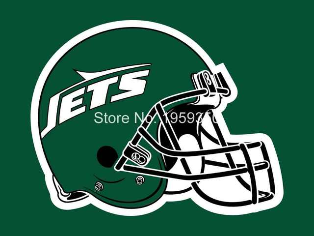 f5dfa4d842f New York Jets helmet flag 3FTx5FT Banner 100D Polyester Flag white sleeve  with 2 Metal Grommets double stitched 40224