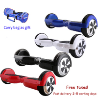 5 Colors 6 5 Inch Hoverboard Two Wheels Self Balance Scooter Hover Board With Carry Bag