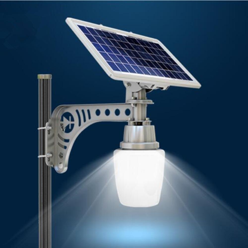 2PC/lot 700LM Outdoor Waterproof Light Sensor Solar Powered LED Pole Wall Street Light For Garden Path Corridor
