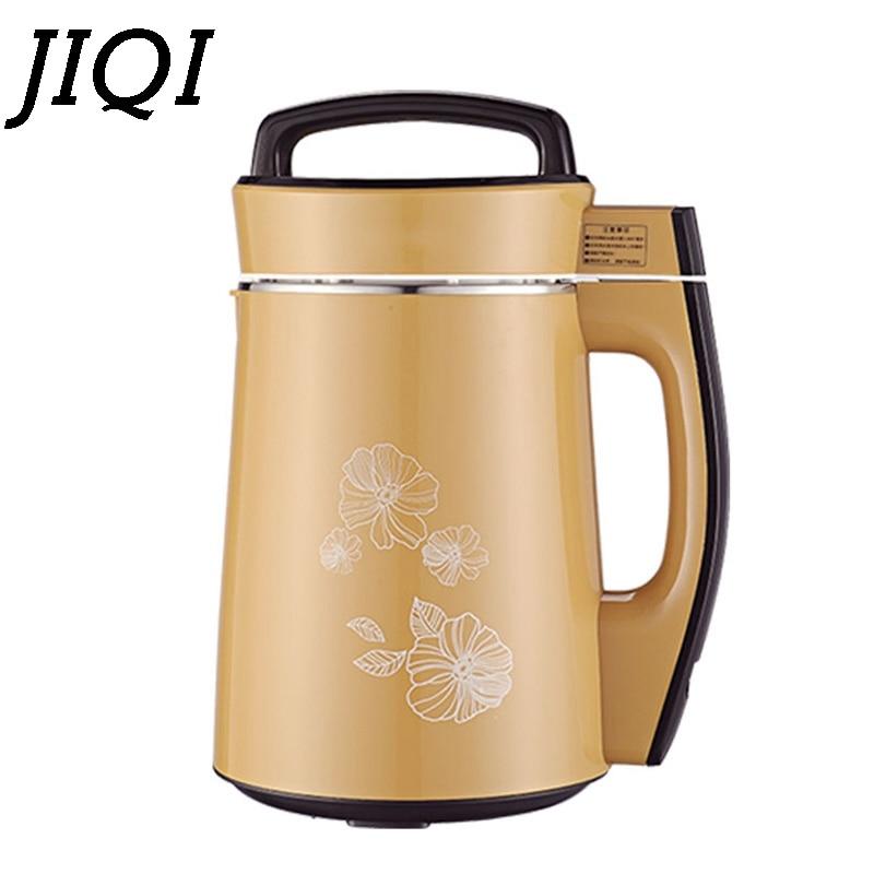 JIQI electric Soymilk machine household Soyabean Milk Maker Stainless Steel automatic heating soy beans Milk juicer blender