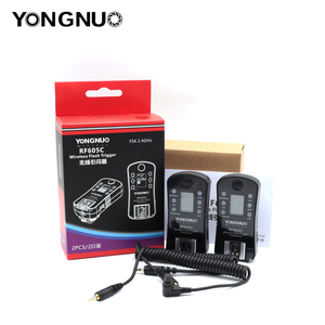 Image 2 - YONGNUO RF 605C RF 605N 2.4GHz Wireless Flash Trigger LCD Screen TX/RX Remote Control Shuttle Release for Canon Nikon Pentax