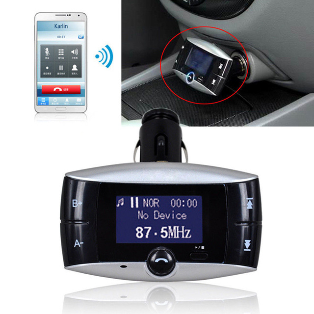 1.5in LCD Kit de Coche Bluetooth Reproductor de MP3 FM Del Modulador Del Transmisor SD MMC USB Remoto FC