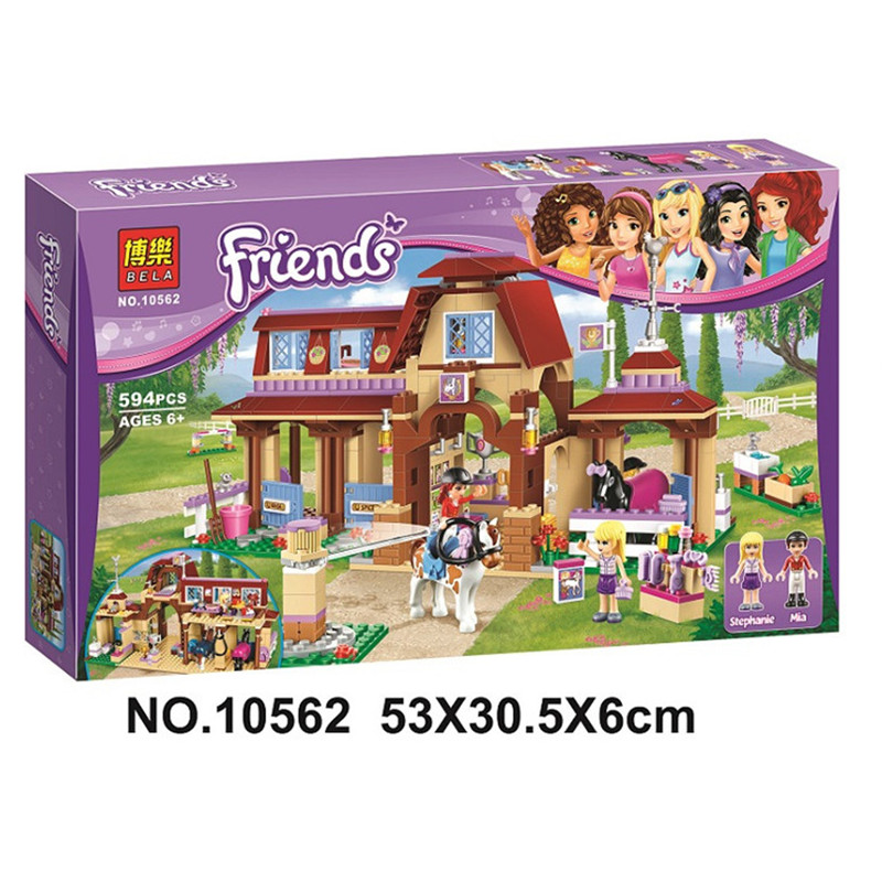 594pcs Legoings Friends For Girl Heartlake Riding Club Horse Stables Block Set Mia Stephanie Building Toy Compatible with 41126594pcs Legoings Friends For Girl Heartlake Riding Club Horse Stables Block Set Mia Stephanie Building Toy Compatible with 41126