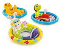 Baby Swimming Circle Infant Inflatable Swimming Ring Pool Seat Toddler Float Ring Kids Ride on Life Buoy Animals Cartoon Designs