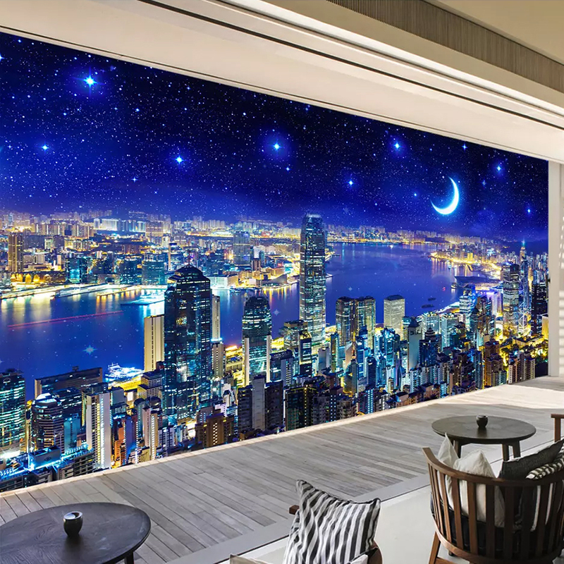 Custom Any Size 3D Wall Mural Paintings City Building Night View 3D Photo Wallpaper Living Room Bedroom Study Room Wall DecorCustom Any Size 3D Wall Mural Paintings City Building Night View 3D Photo Wallpaper Living Room Bedroom Study Room Wall Decor