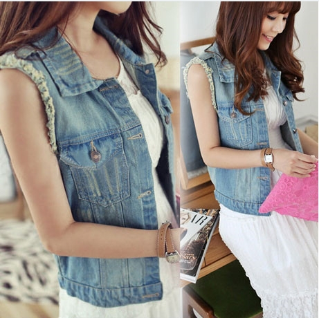 2014 veste femme Spring wild ladies vest Korean denim vest