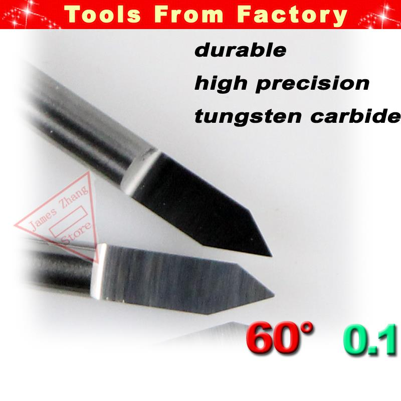 10PCS New Tungsten Bit V Shape Carbide PCB CNC Engraving V Bits 60 Deg 0.1mm For CNC Machinery J3.6001 Acrylic Carving Frezer
