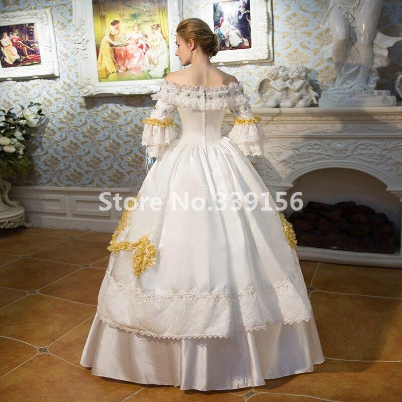 Rococo Dentelle La Robe Taille Plus Blanc Médiévale Picture Marie Multi Longue Siècle Renaissance Antoinette couche As Dress18th Partie qOdtSxw