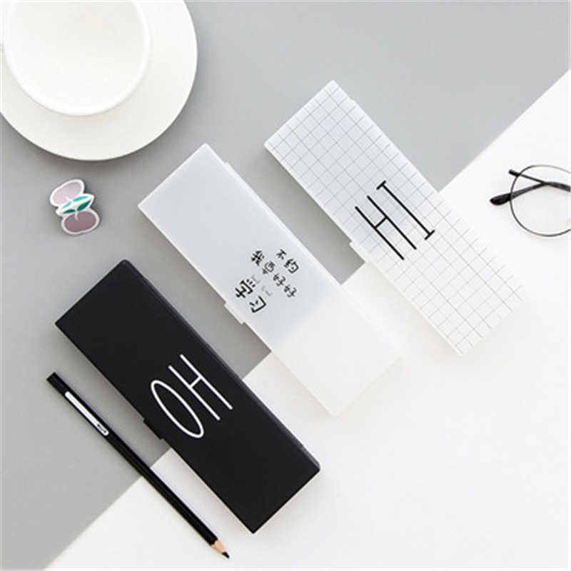 DL South Korea simple multifunctional creative Curve Wrecker funny pencil box pencil stationery stationery box containing matte