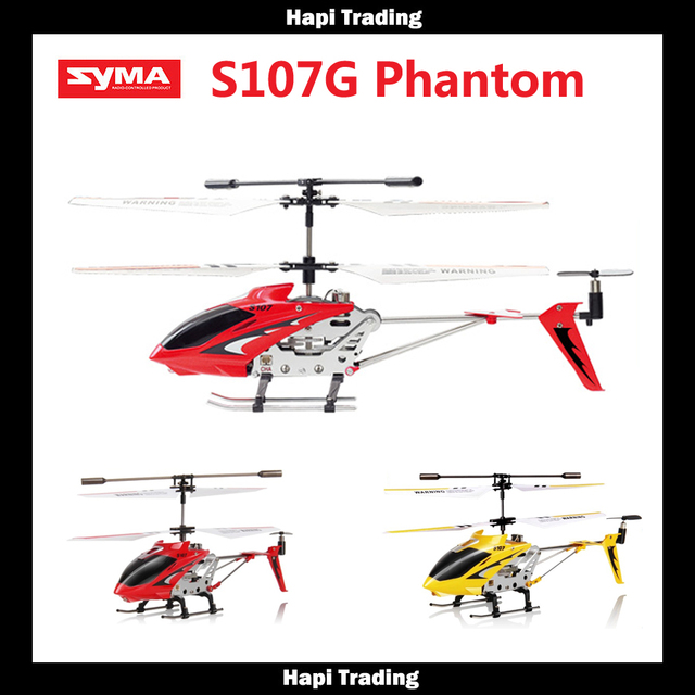 Original Syma S107 S107G 3.5CH RC Helicóptero com gyro Controle de Rádio do Metal da fuselagem de liga R/C Helicóptero Mini Indoor. DD001