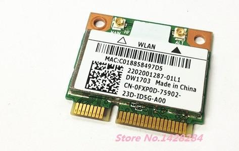 SSEA χονδρεμπόριο νέο πρωτότυπο για DELL DW1703 Atheros AR5B225 WIFI Bluetooth BT 4.0 Μισή MINI PCI-E 300Mbps ασύρματη κάρτα