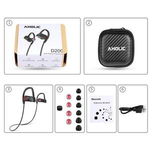 Image 5 - D200 Wireless Earphones Bluetooth Headphone IPX7 Waterproof Sports Headset Neckband Noise Canceling Stereo Earphones for xiaomi