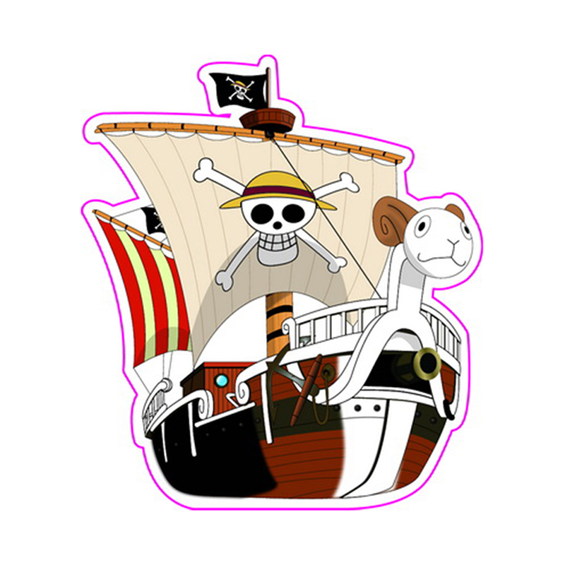 Going Merry One Piece Fixed Gear & Luggage & Guitar Stickers Reusable ONEPIECE Refrigerator Sticker